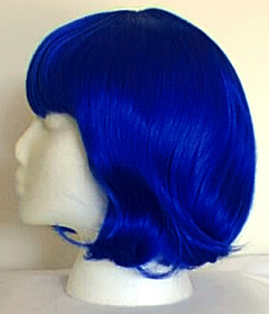 China Doll wig in Electric Indigo (bright blue) from Amphigory