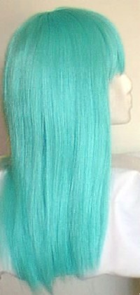 Cleopatra style wig in Daydream (sky blue) from Amphigory
