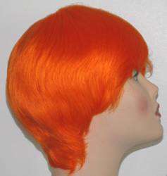 st mans wig in orange