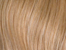 swatch of wig color 24b gold blonde