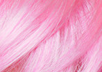 swatch of cotton candy pink wig color
