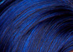 swatch of midnite blue wig color