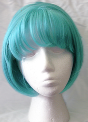 Gina wig in blue daydream front view